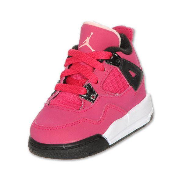 nike jordan toddler retro 4 basketball shoes voltage  liked on polyvore