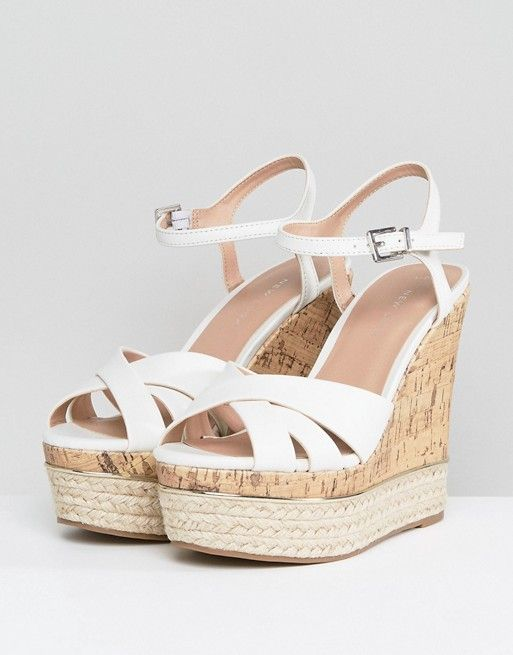 59a418ec157 New Look Leather Look Cork And Espadrille Wedge   1.1 Life is Short ...
