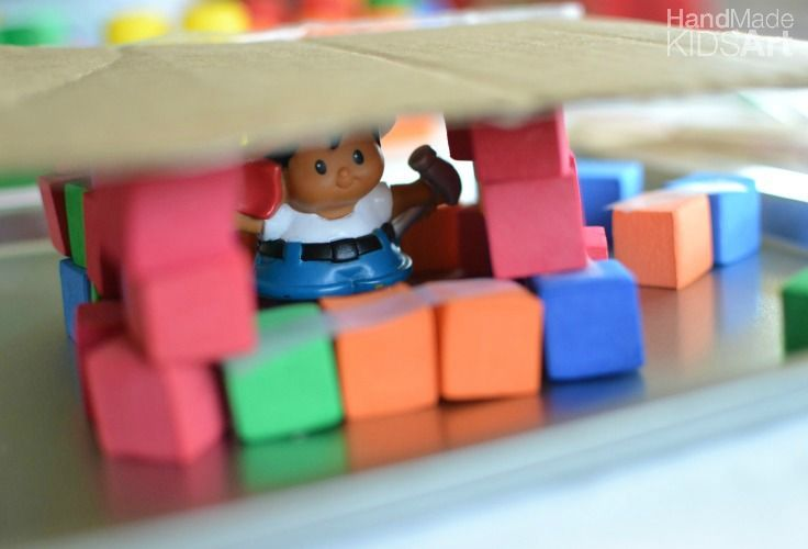 STEAM: Engineering Preschool Activities for STEM Enrichment- building a shelter from the rain