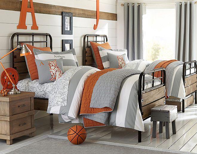 Best 25 grey orange bedroom ideas on pinterest orange bedroom decor grey and orange living - Deco room oranje ...