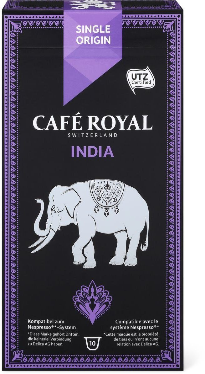 Café Royal Single Origin India #Coffee #Packaging #Elephant