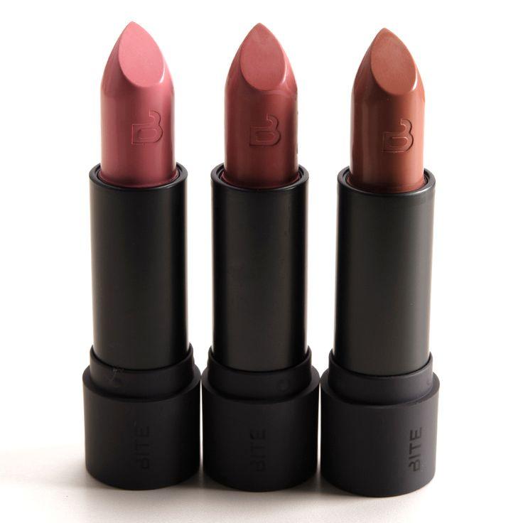 Bite Beauty Souffle, Sugarcane, Honeycomb Amuse Bouche Lipsticks Reviews, Photos, Swatches