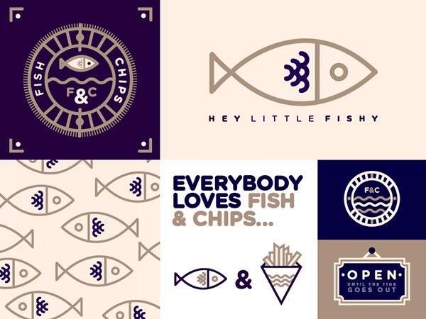www.papiers-urbains.fr aime le Fish and Chips et l'identité graphique travaillée par le Studio JQ pour un restaurant de Fish and Chips anglais © SJQ