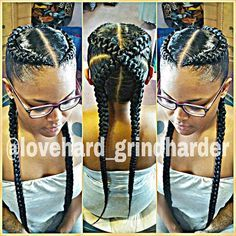 By @lovehard_grindharder #GlamourBraids last 2 to 3 weeks #painless No Heat…