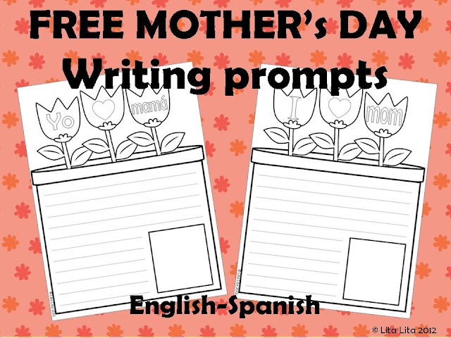 FREE Mother's day writing prompts (Spanish & English)