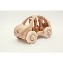Wooden car for four people