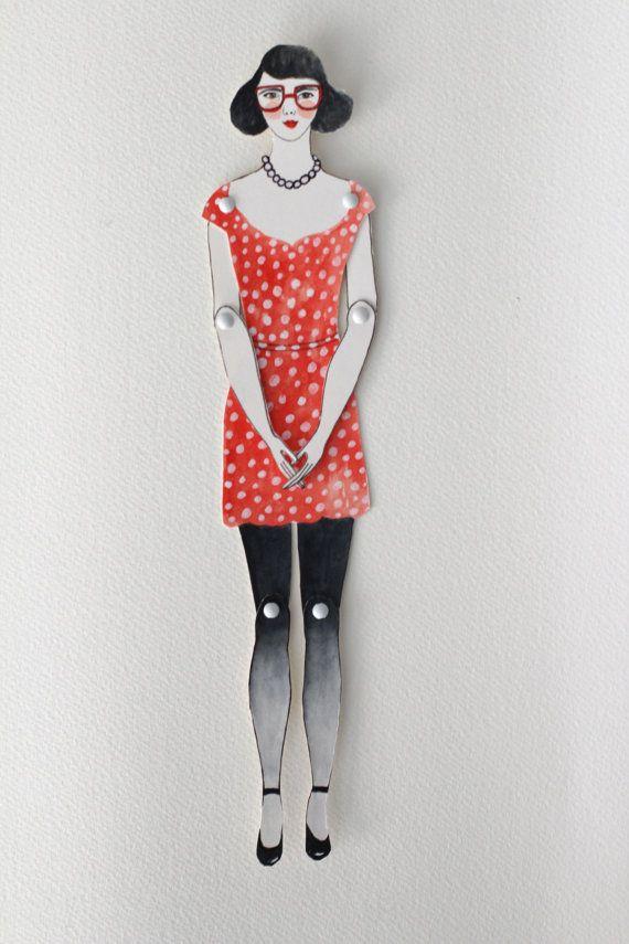 Paper doll custom paper doll custom portrait by LittlePaperClouds, $35.00