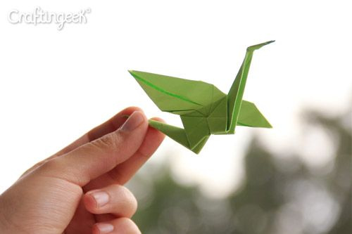 Craftingeek*: Grulla de papel ... ¡para decorar tu habitación!