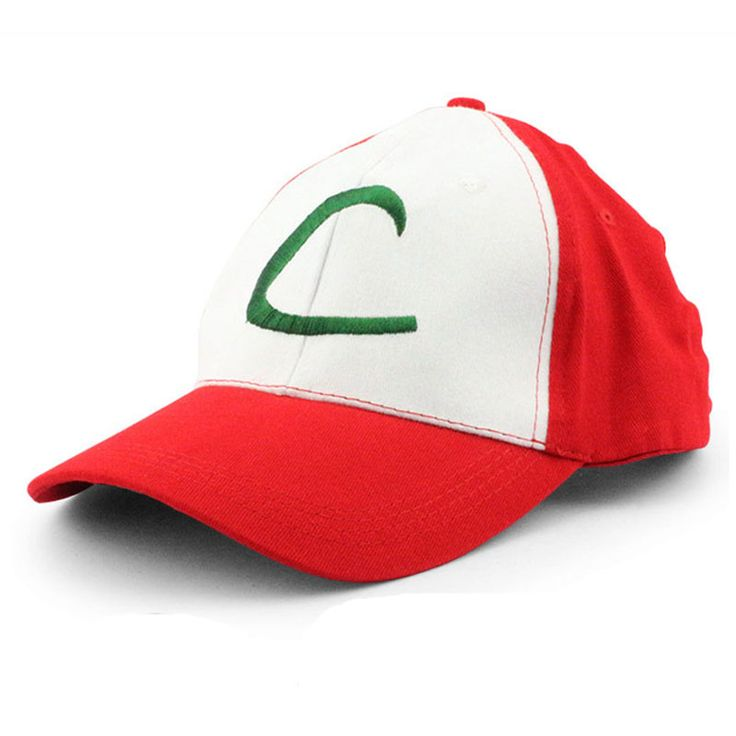 Anime Cospaly Hat Pokemon Go Cap Ash Ketchum Hat Costume Play Pokeball Baseball Caps