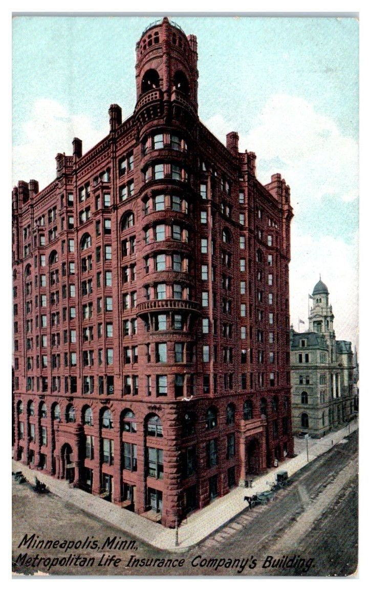 Early 1900s Metropolitan Life Insurance Co Building Minneapolis Mn Postcard Ebay With Images Life Insurance Facts Life Insurance For Seniors Life Insurance