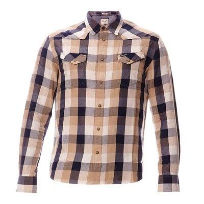 Prezzi e Sconti: #Wrangler western safari camicia in cotone - Uomo  ad Euro 60.00 in #Camicie a maniche lunghe casual #Camicie