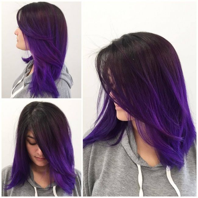 Tie And Dye And Shaded Hair The Trend That S Back Nel Nuove Acconciature In 2020 Ombre Hair Color Hair Highlights Purple Ombre Hair