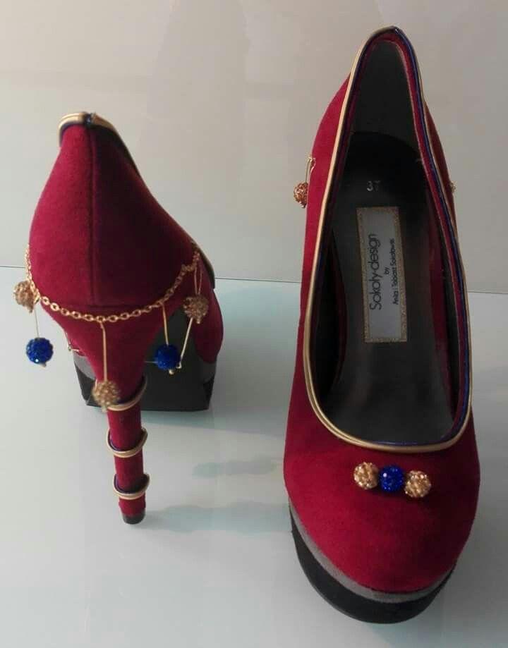 pumps shoes buty schuhe soutache sutasz сутаж sutazh crystals kryształki kristalle pompons pompony bobble bommel marrakesh marrakech marrakesz marrakesch