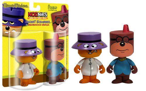 Bobble Head Figure - Secret Squirrel (Nodnik) - Secret Squirrel & Morocco Mole (Set)