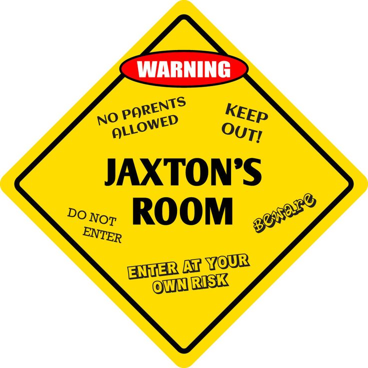 "Aluminum Jaxton's Room Kids Room Door 12""X12"" Metal Novelty Sign"