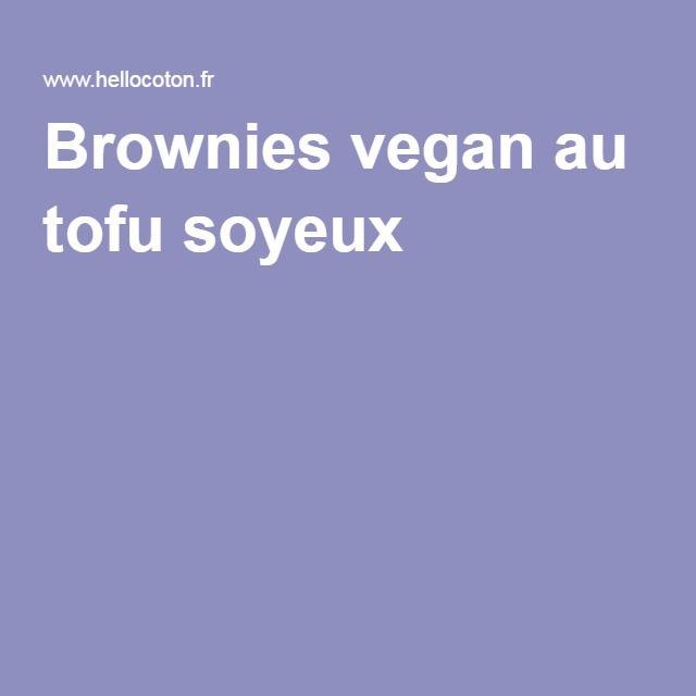 Brownies vegan au tofu soyeux
