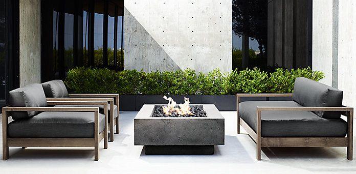 Cypress Weathered Rh Design Courtyard Pinterest