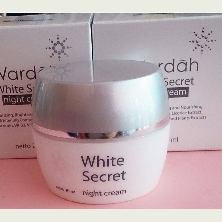 Wardah White Secret Night Cream Krim Pencerah Membantu