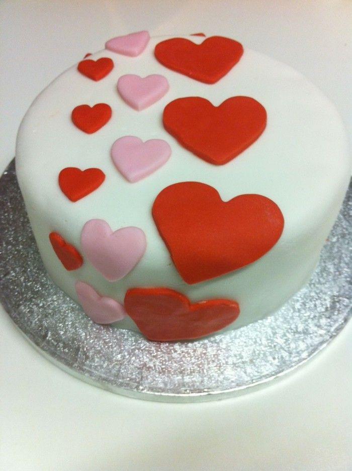 Valentinstag kuchen mit fondant