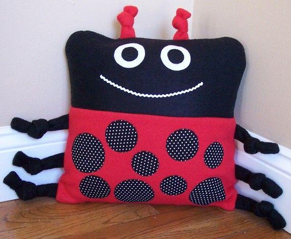 Lady Bug Animal Pillow. $15.00, via Etsy.