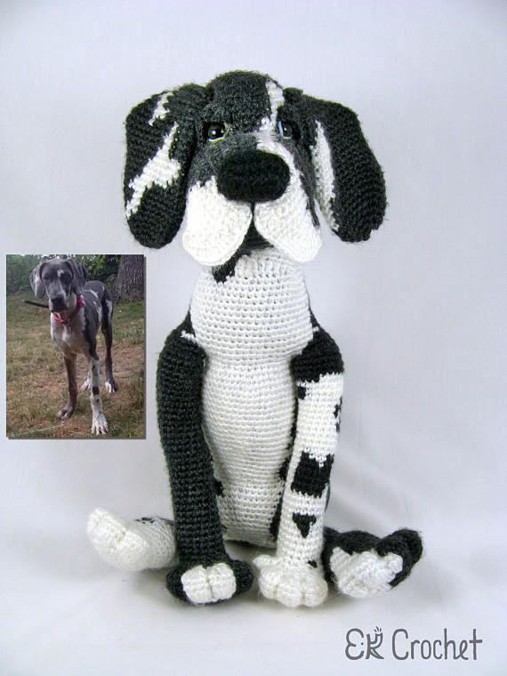 Custom Great Dane Amigurumi Crochet Dog Crochet Dog Patterns