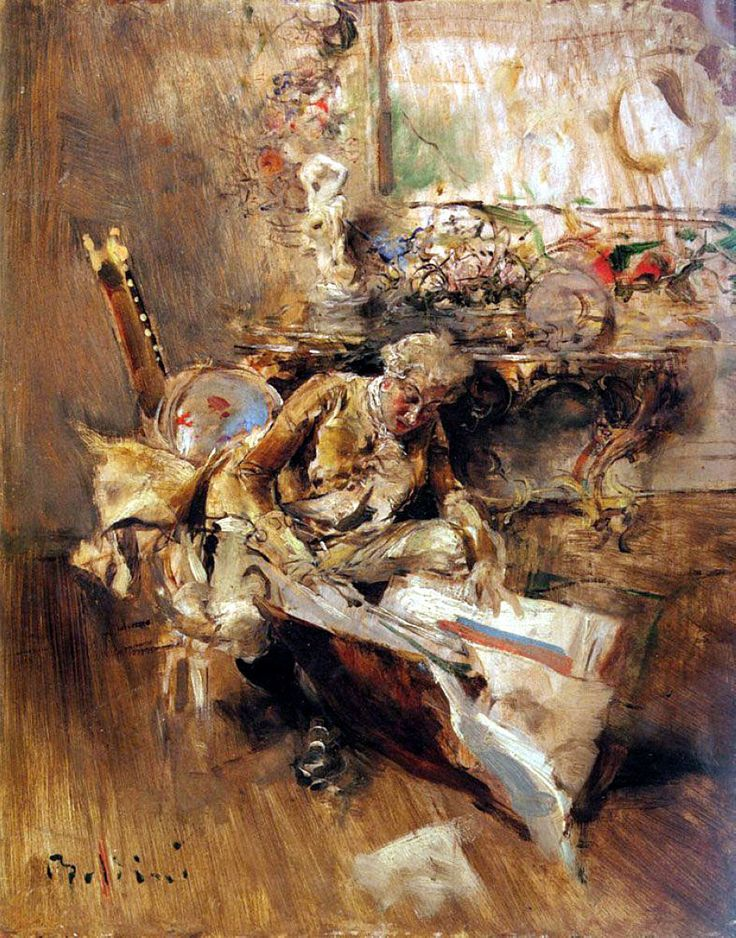 The Art Connoisseur by Giovanni Boldini.