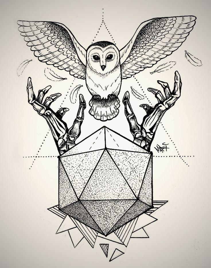 Annabella 67 Art Line Design : Best geometric owl tattoo ideas on pinterest