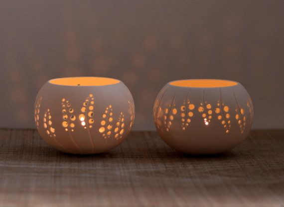 Porcelain Tea light Delight Candle Holder N8 Design by by wapa, $40.00
