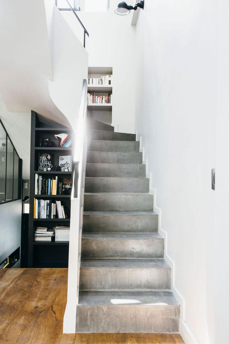 les 25 meilleures id es de la cat gorie escalier beton sur pinterest r nover escalier b ton. Black Bedroom Furniture Sets. Home Design Ideas