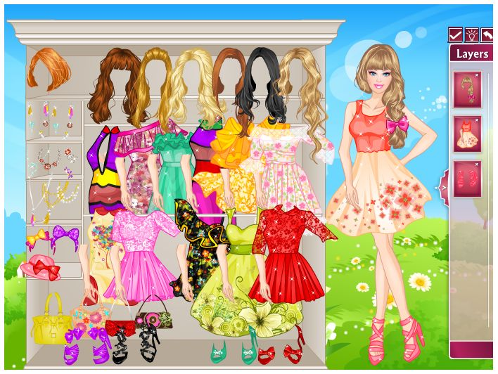 Games of barbie style dress up