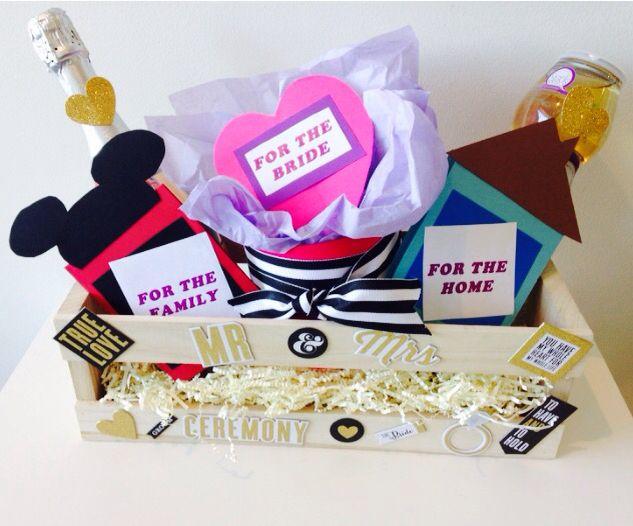 Wedding Gift Basket Champagne Bride Tank Disney Card Macys