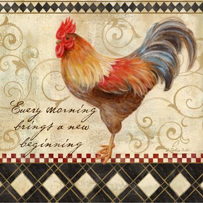 RB4466CC  Rooster Sentiment II  12x12