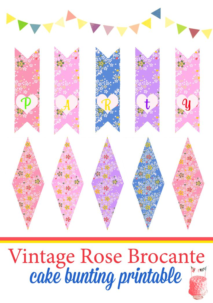 1000 Images About Free Mini Cake Bunting Printable On