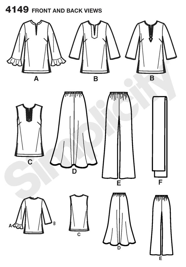 Misses or Plus Size Skirt, Pants sewing pattern 4149 Simplicity: