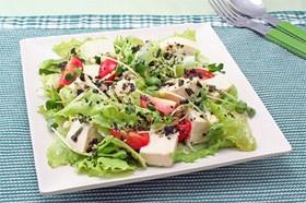 豆腐とレタスの簡単サラダ
