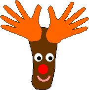 Hand and Foot Reindeer Craft - Enchanted Learning Software