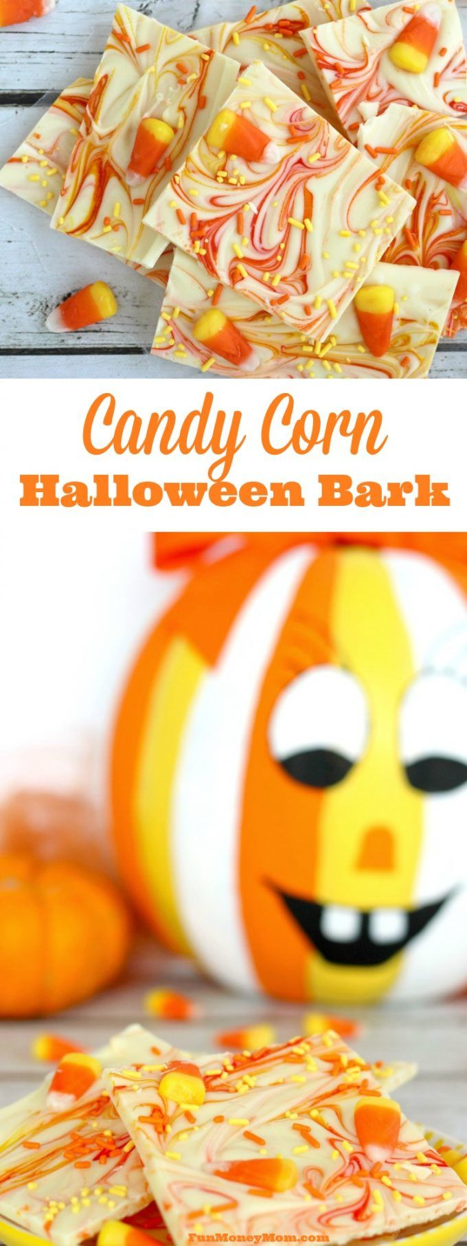 I just can't stay away from the candy corn! Now I've made this delicious (and super easy) Candy Corn Halloween Bark....you'll definitely want to try it!