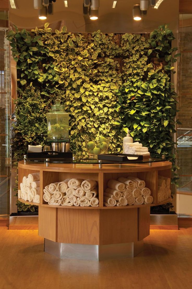 Spa waiting room decor - Park City Fitness Center Sub Herb Wall