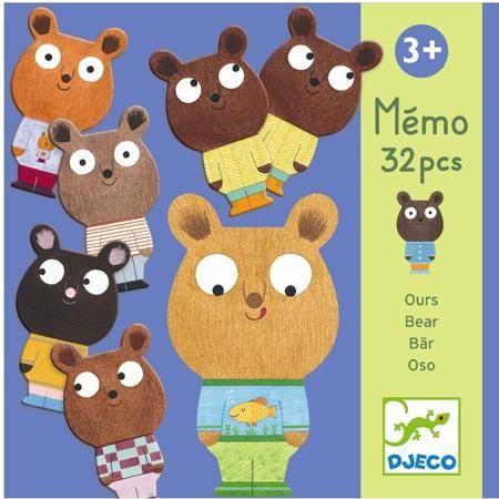DJECO Настольная игра Мемо Мишки от 3 лет  — 1239р. ------------ Настольная игра Мемо Мишки – восхитительная развивающая игра на наблюдательность для малышей от 3-х лет от Djeco!  В наборе ваш ребенок найдет 32 карточки с парными изображениями медвежаток. Ребенку нужно перевернуть их картинками вниз, а затем, переворачивая обратно, найти карточки с похожими картинками.  Все детали набора изготовлены из высококачественных нетоксичных материалов.  Набор продается в яркой подарочной коробке.…