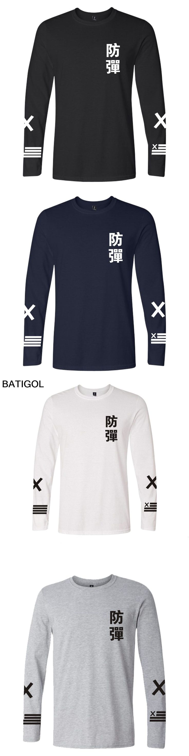 BATIGOL BTS K-pop men Tshirt Top Popular Casual Bangtan Hip Hop T Shirt Cotton Summer Long Sleeve male Fans Tee Shirt