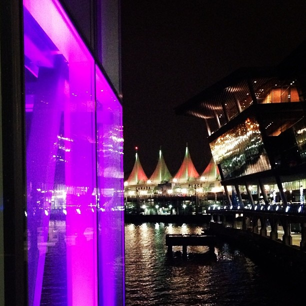 pretty lights at the Convention Centre/Canada Place - Photo by guavalava