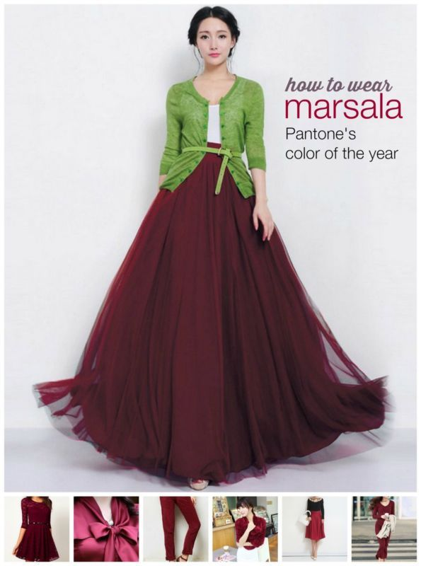 10 Stylish Ways to Wear Marsala: Pantone's 2015 Color of the Year | eBay