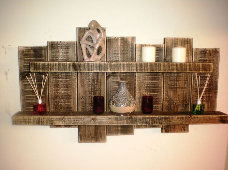 Floating Shelf Storage Wall Art Sculpture Rustic Reclaimed