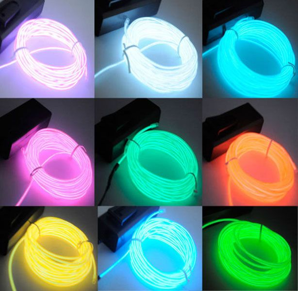 1000 bilder om el wire designs på lödning glöd och flexible neon strip landscape glow el wire rope light party car battery pack
