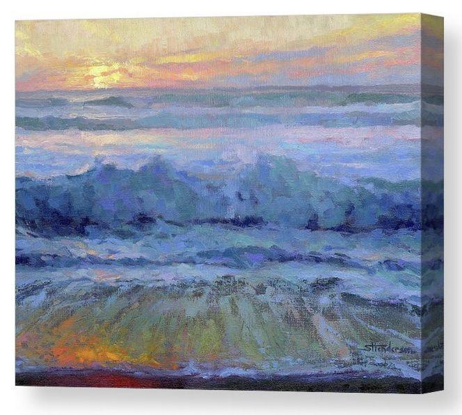 Twilight Surf Ocean Coastal Canvas Art Print From Steve Henderson Collections It Is Sunset On The Beach And In The In 2020 Canvas Art Prints Art Beautiful Wall Art
