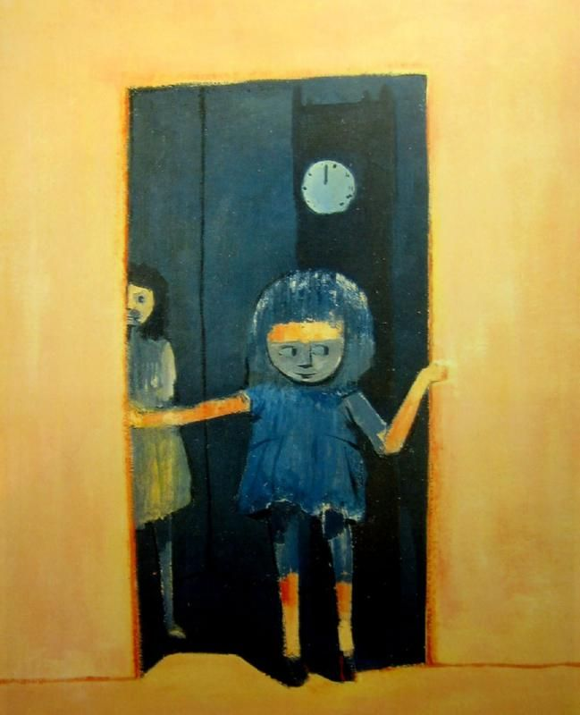 Girl in a Doorway, Charles Blackman. Australian, born in 1928.