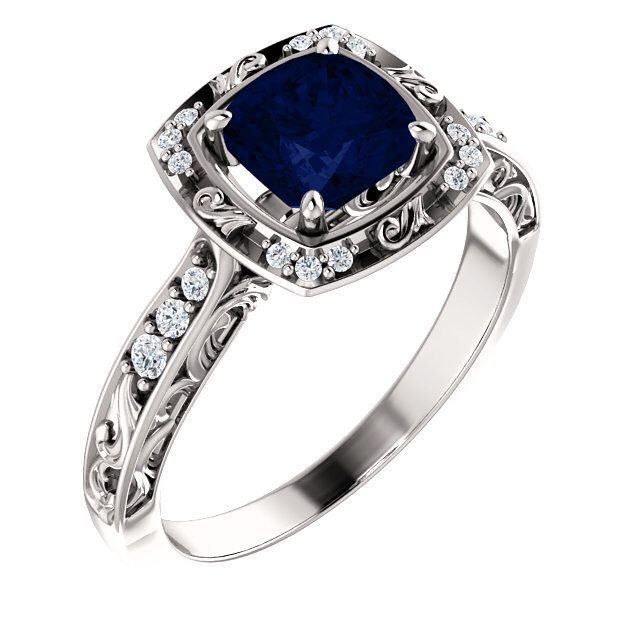 Vintage Sapphire Ring, Antique Sapphire Ring, Victorian Sapphire Engagement Ring, Vintage Blue Sapphire Engagement Ring. Sapphire Ring by cldiamonds on Etsy https://www.etsy.com/listing/288893885/vintage-sapphire-ring-antique-sapphire