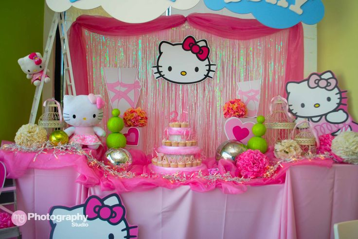 Kitty themed party decoration