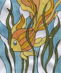 Рыбки | Блог художника-витражиста Ирины Киселёвой