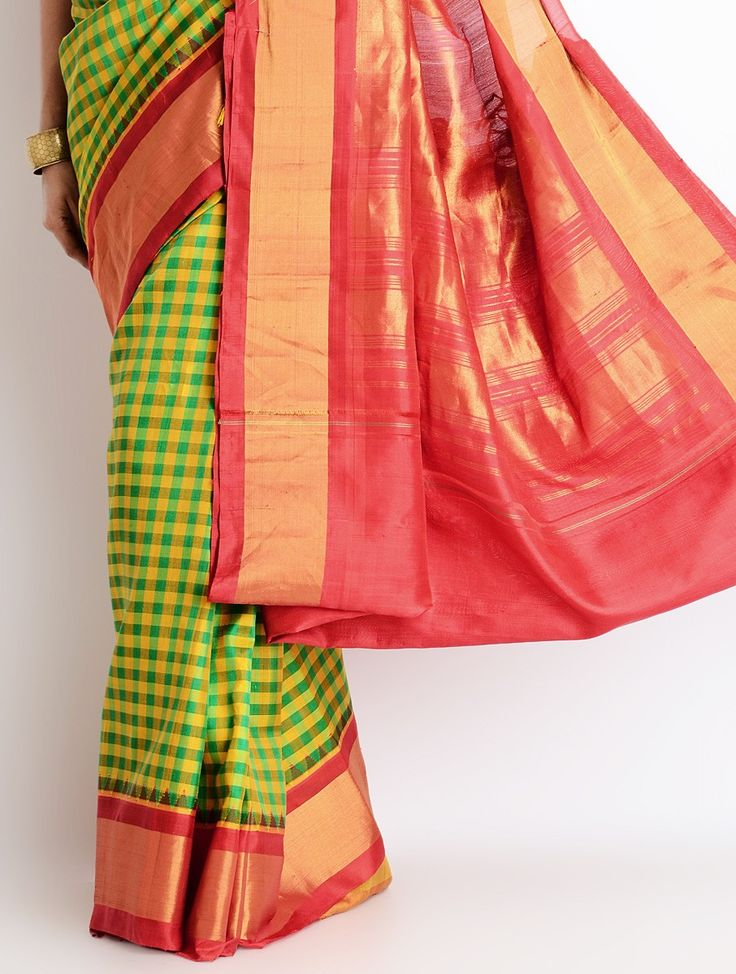 SOLD - Gadwal handloom silk saree. View more from this collection at: www.facebook.com/omnah.  Pic courtesy: Jaypore